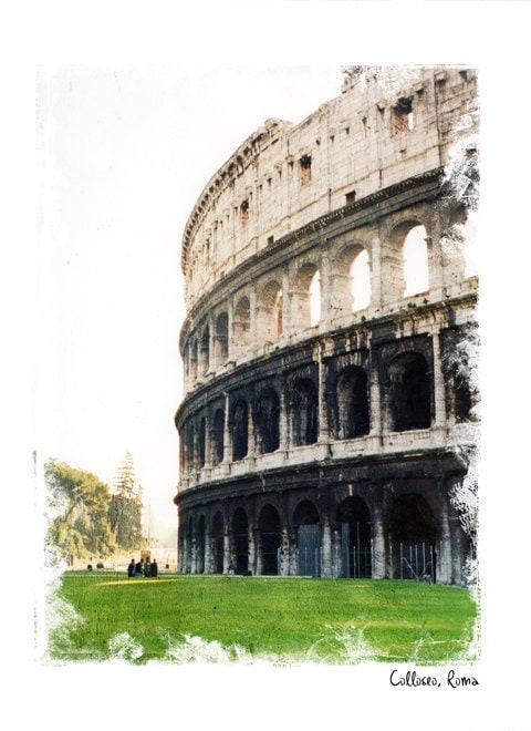 Рим Forever - № 5, Италия Фото - художественной фотографии - Архитектура Фотография - Римский Колизей Рим, Италия Декор - Рома Фото