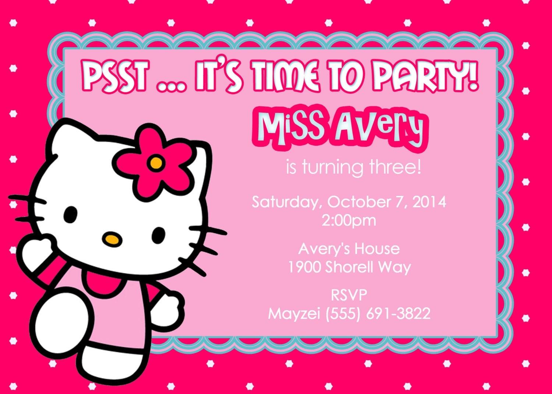 hello kitty birthday invitations template