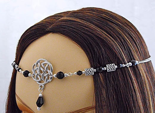 CUSTOM color Celtic Elven Bridal tiara wedding CIRCLET head piece SCA