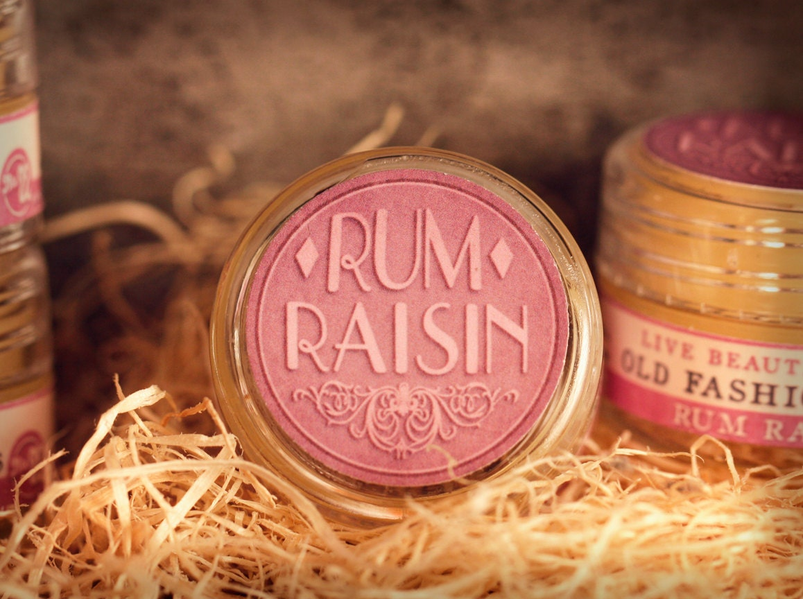 All Natural - Rum Raisin - Lip Balm Jelly - Caramel Raisin Dessert Sauce