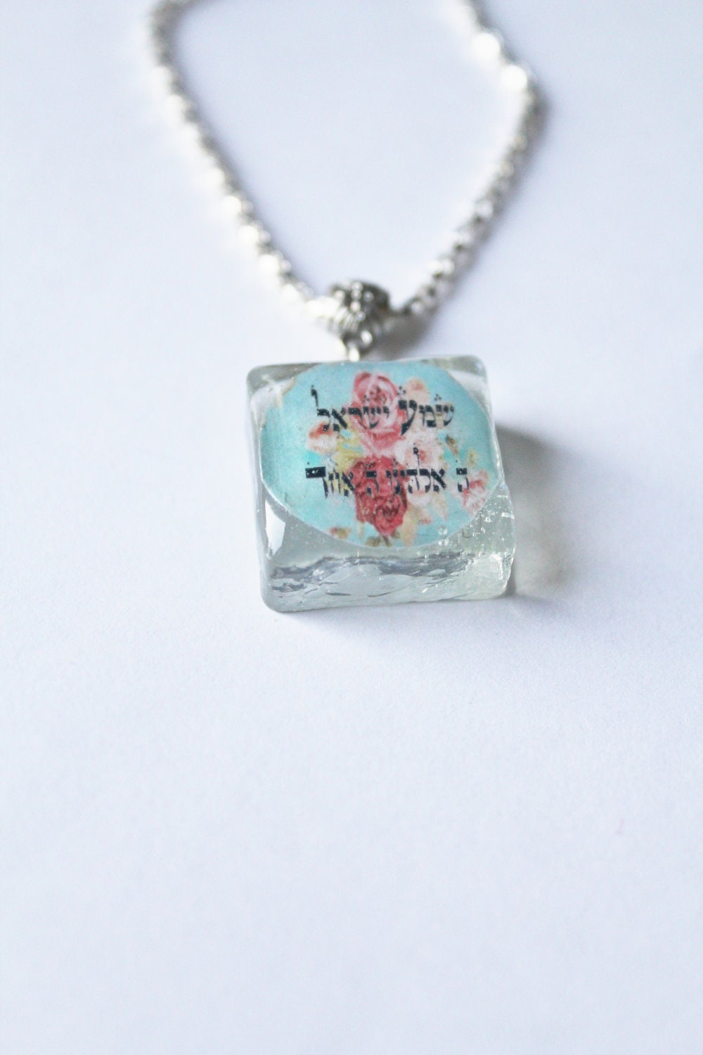 Shema cameo necklace, Chai necklace, Hebrew charm necklace, Hebrew prayer necklace, Chai for life necklace
