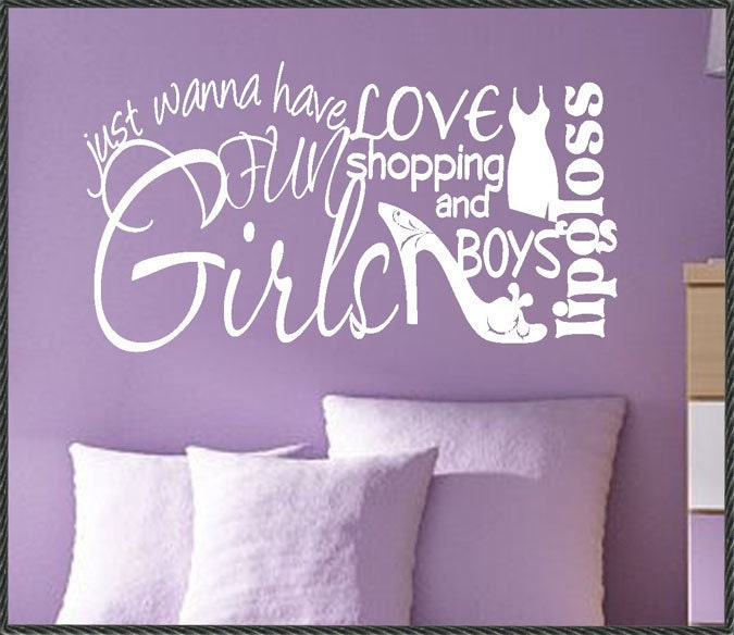 quotes girls love. Vinyl Wall Lettering Quotes Girls Love Shopping Boys Word Collage