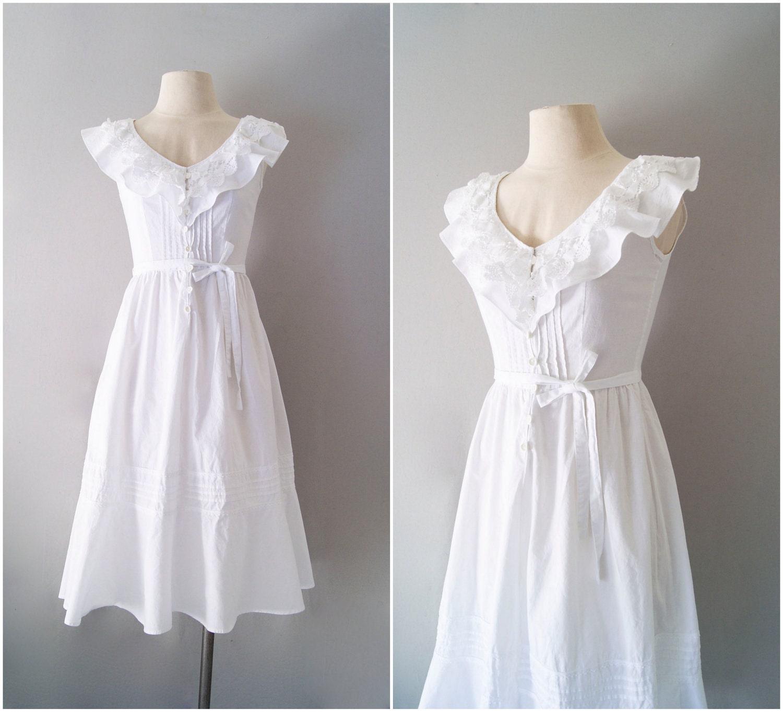 White Cotton Sundresses