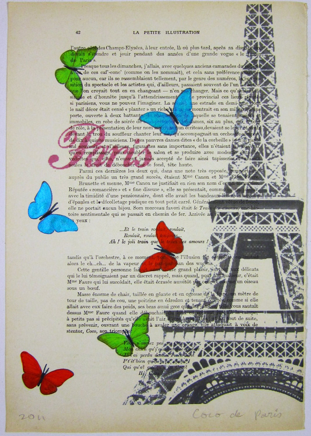 "������� �� ������ - Original ������ ������� ARTWORK �������� 'La Petit ����������� ""1920 ��������� ������ Parisien ���� De Paris"