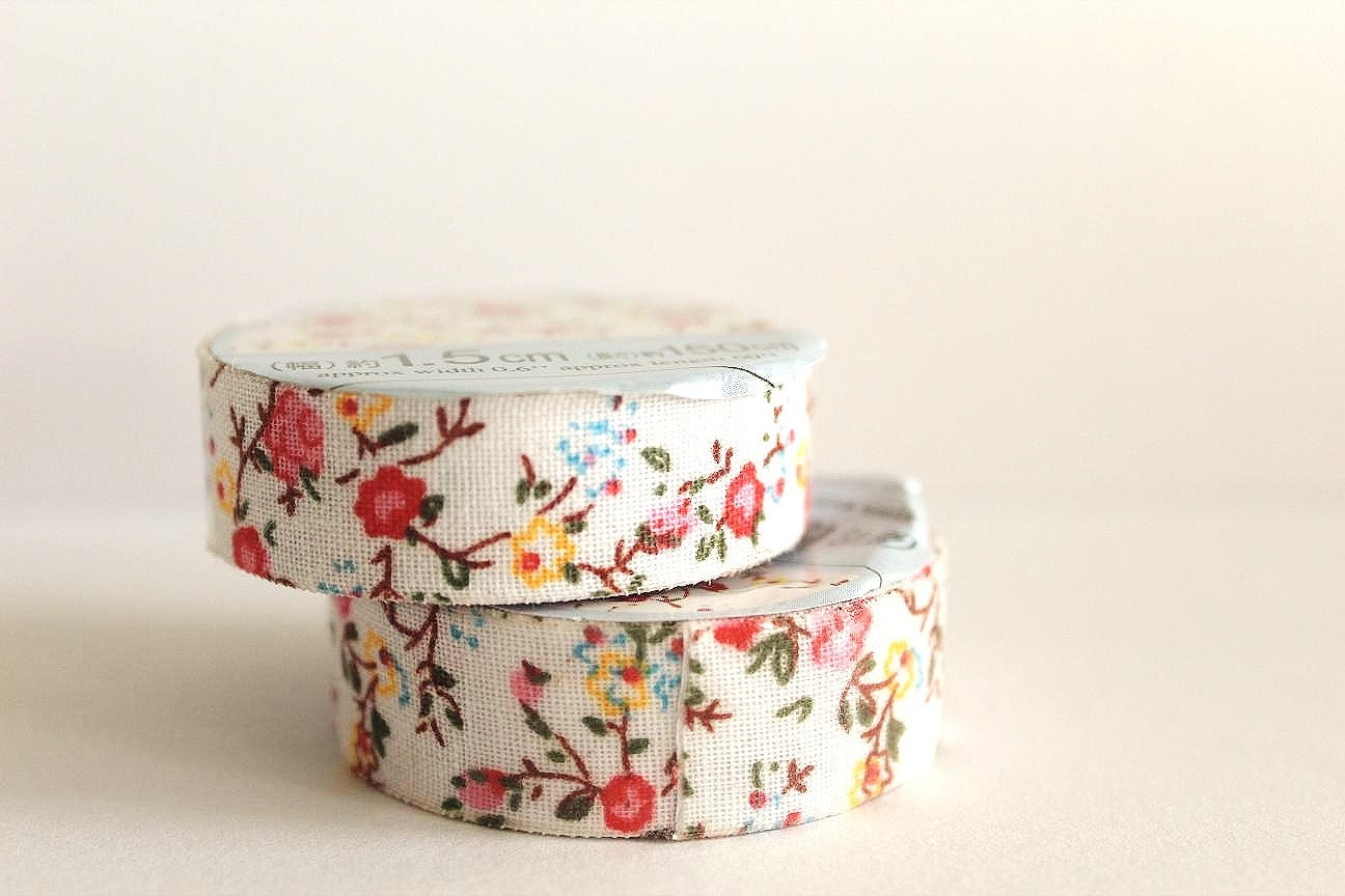 MINI Colourful Flowers (Red, Yellow, Blue) Fabric Tape