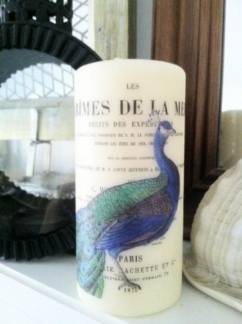 Французская Синий Павлин компонент запаха свечей