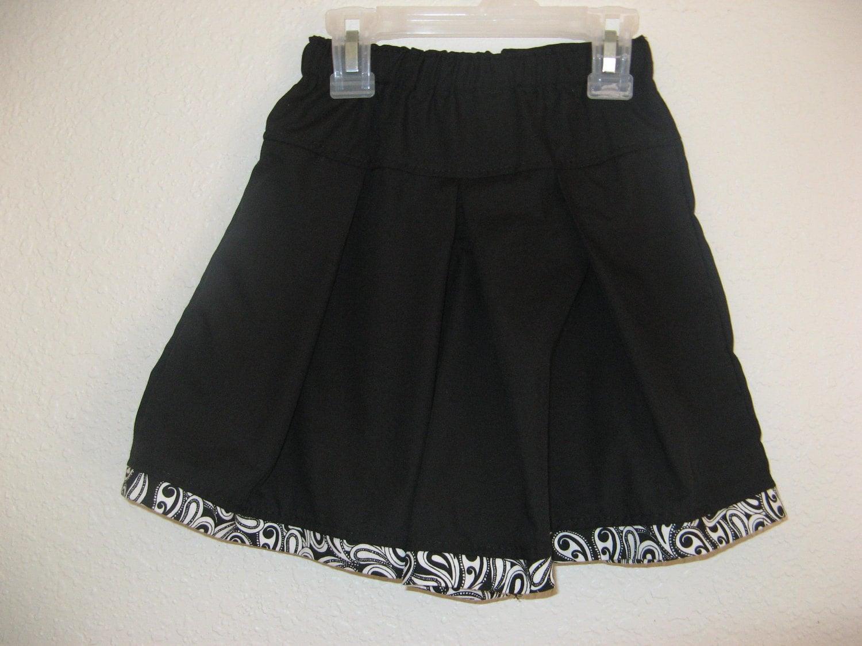 Culottes Modest Split Skirt Black Size 2