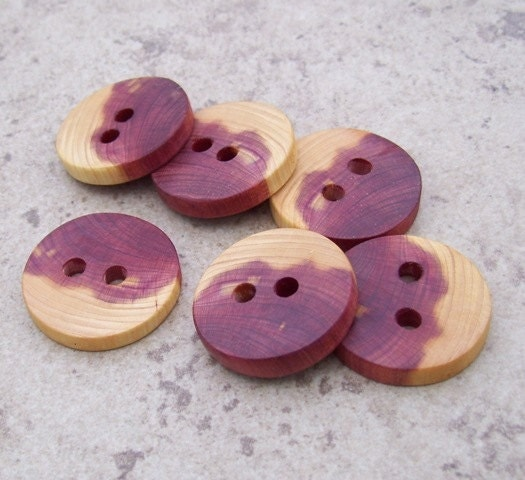 "Cedar Wood Wooden Buttons - Perfect Accessory For Your Crochet, Knit, And Craft Projects - 1 1/4"" - 513"