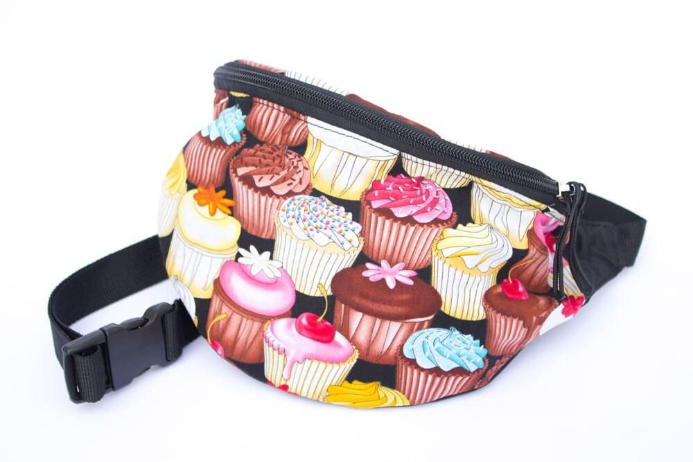 Cupcake fabric Fanny Pack - Hip Bag