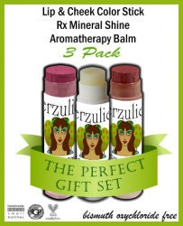 On Sale 3 Pack Your Choice  Aromatherapy Balms  Lipstick Rx Color & Shine   Lipstick Blush