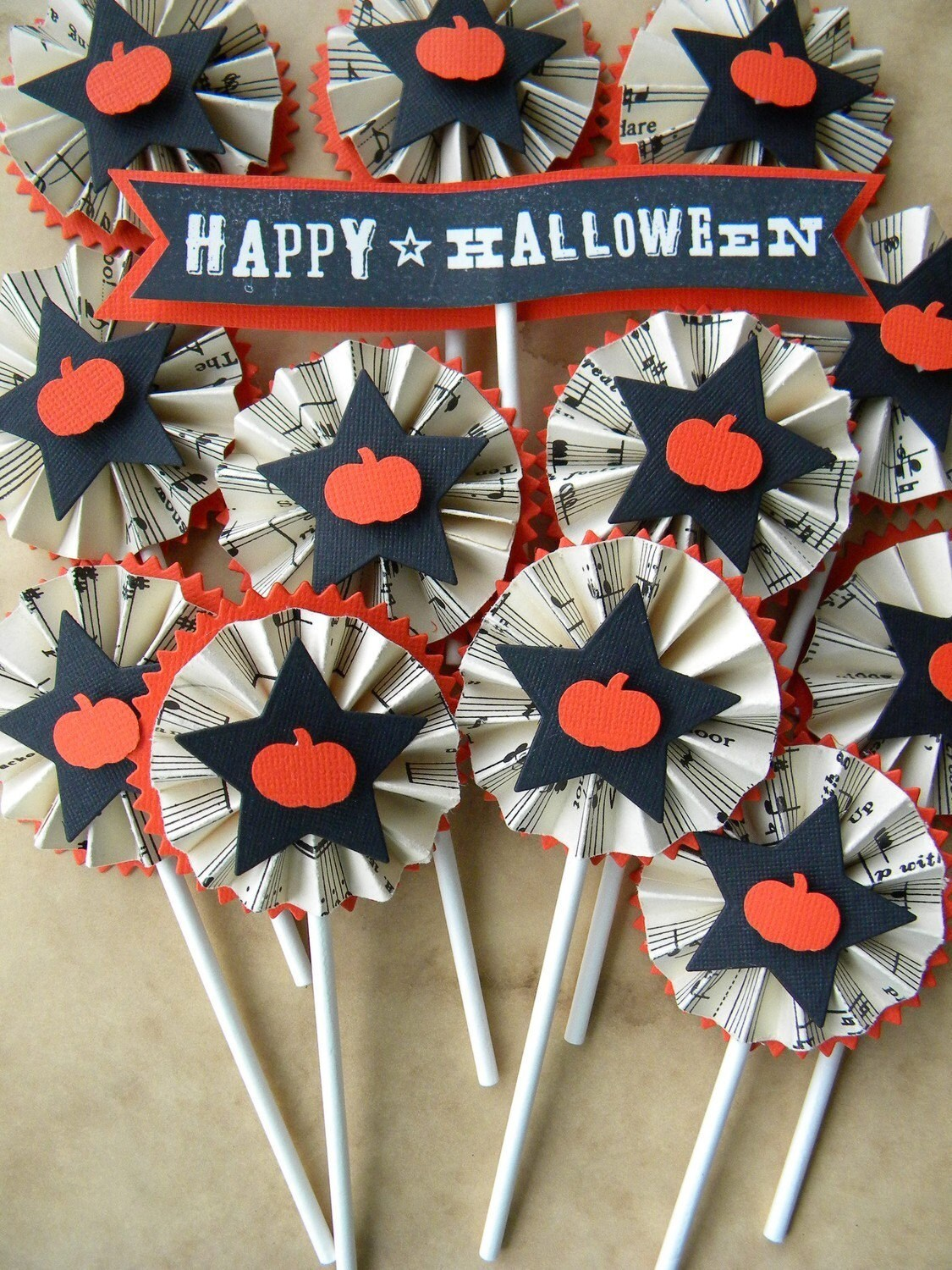 Halloween Cupcake Toppers...set of 13