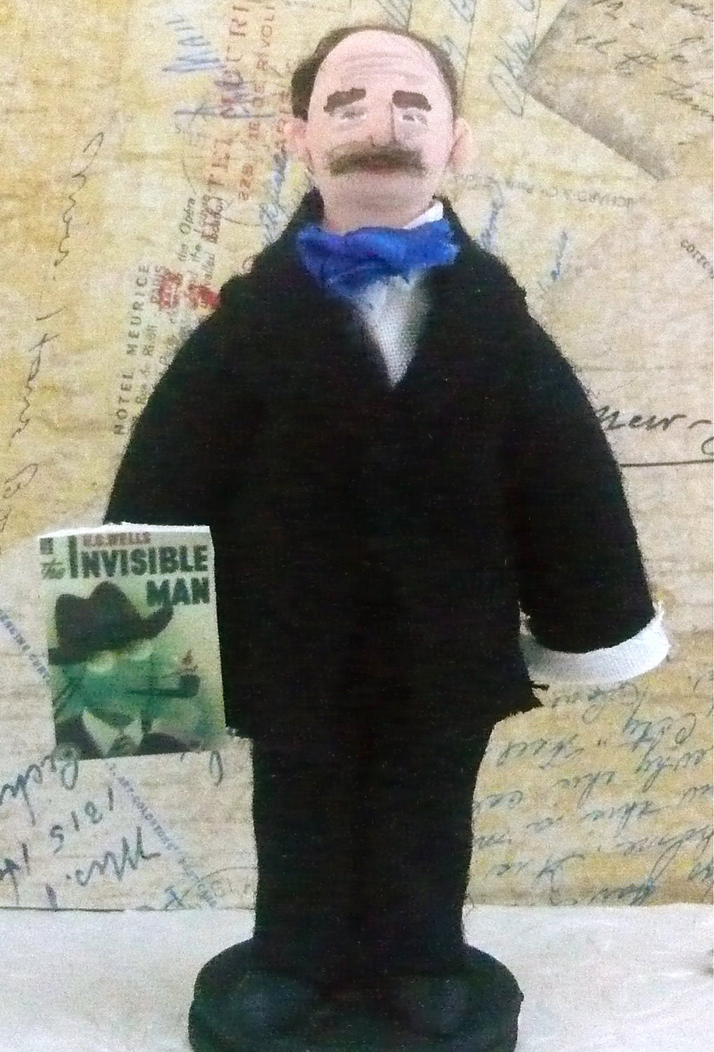 Science Fiction Author H.G. Wells Doll Miniature