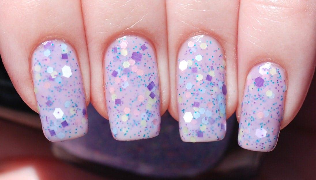 Lavender Festival Glitter Nail Polish 15ml (.5oz)