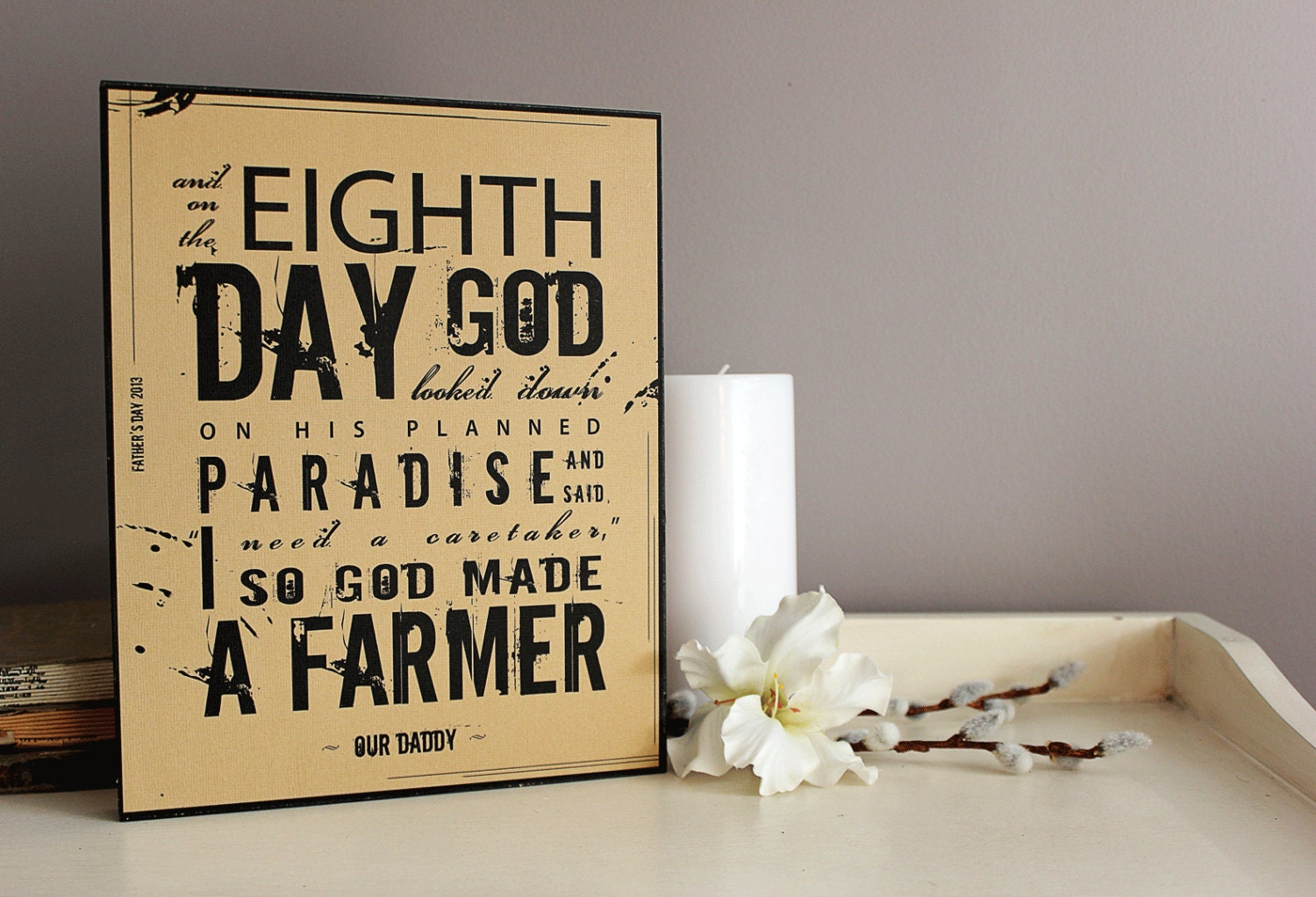 And God Made A Farmer // Wood Plaque For DAD and GRANDPA - RaisingSeedlings