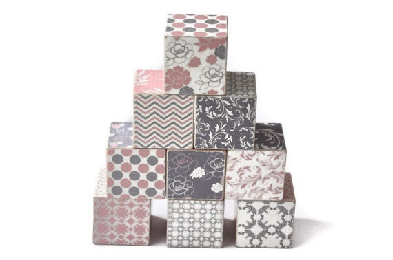 Pink and Grey Wooden Blocks - Stackblocks