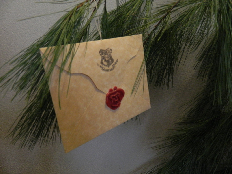 Hogwarts Acceptance Letter CUSTOM Made Ornament - SwishandFlickCrafts