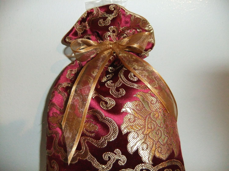 Silk Gift Bag Keepsake Bag Fully Lined Reusable Eco Friendly Multi-purpose
