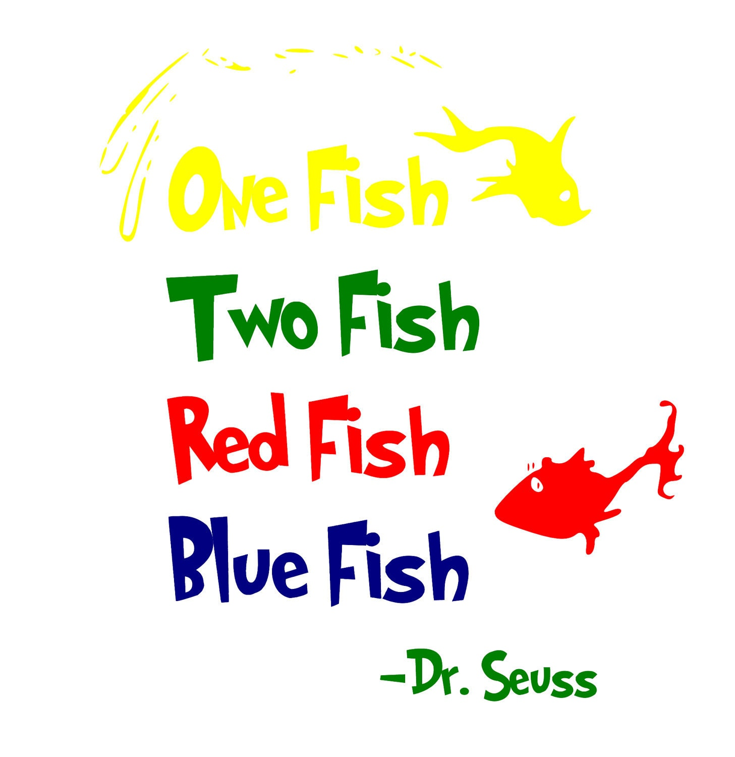 The gallery for one fish two fish clipart for Two fish apparel