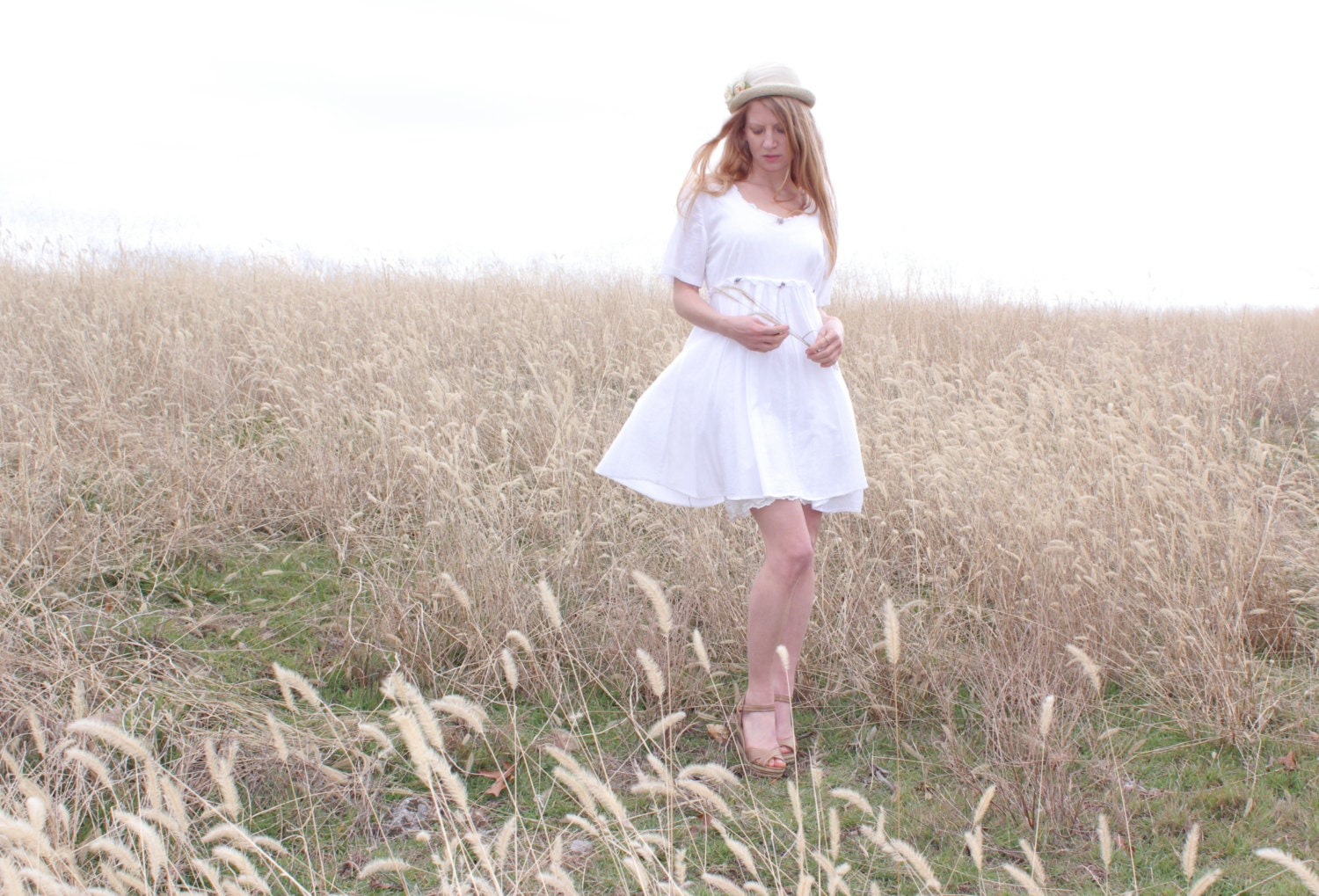 Casual White Cotton Wedding Slip Dresses 46