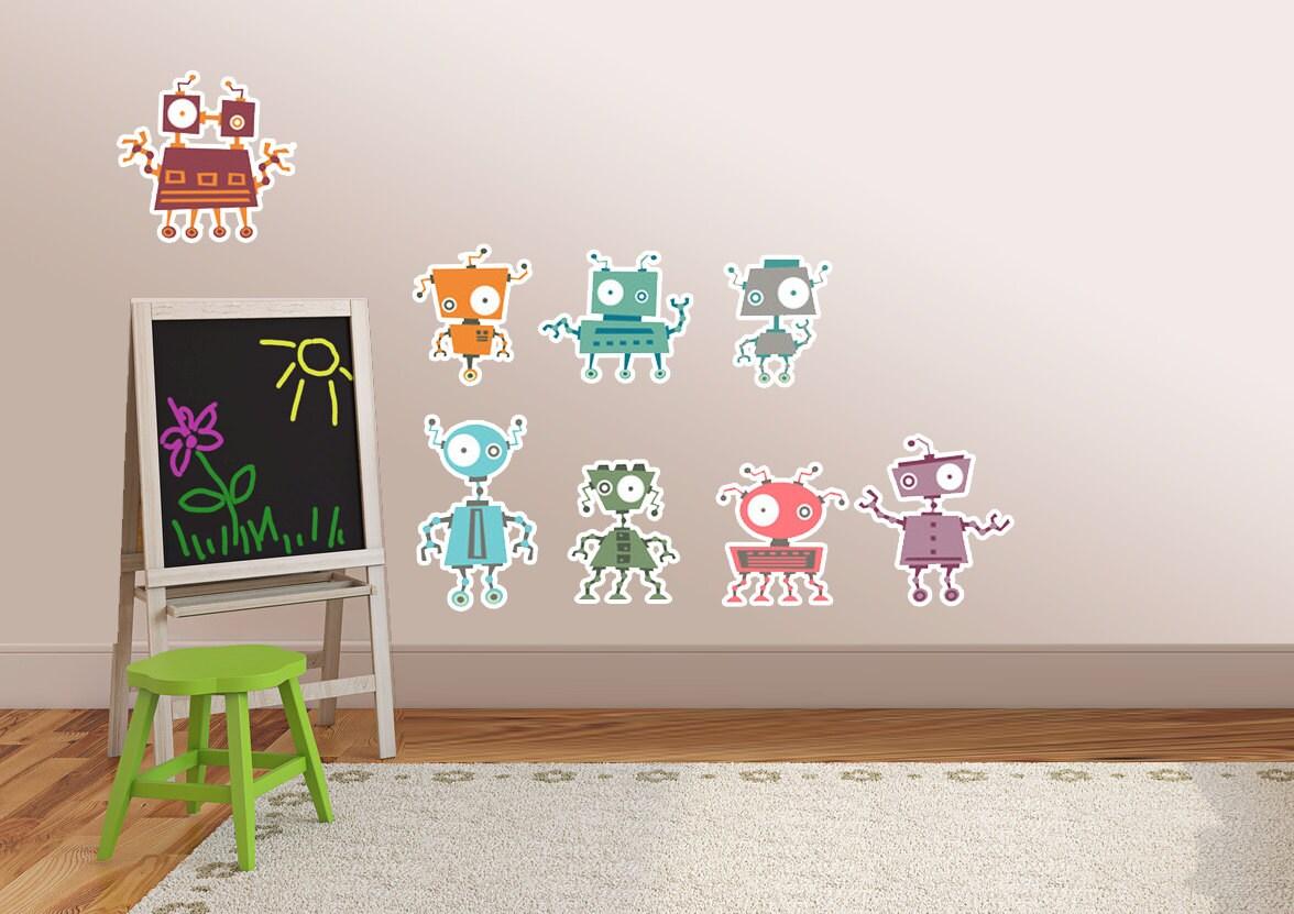 robot wall sticker