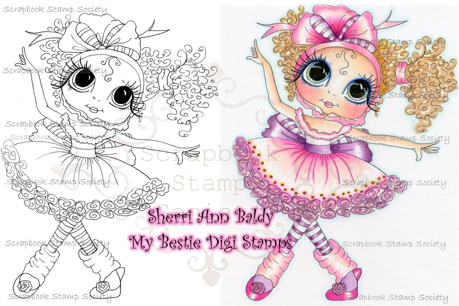 Digital Digi Stamps Big Eye Big Head Dolls Digi   Bestie Dancer  By Sherri Baldy