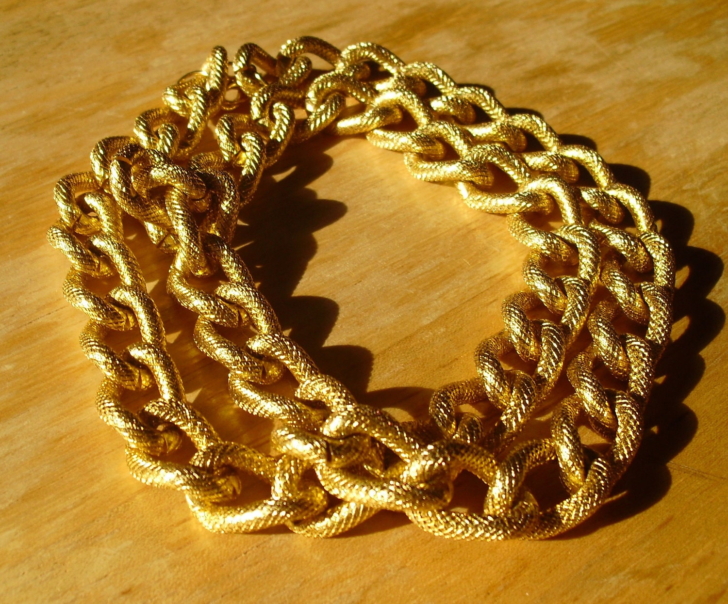 Chunky Gold  Chain Convertible Necklace