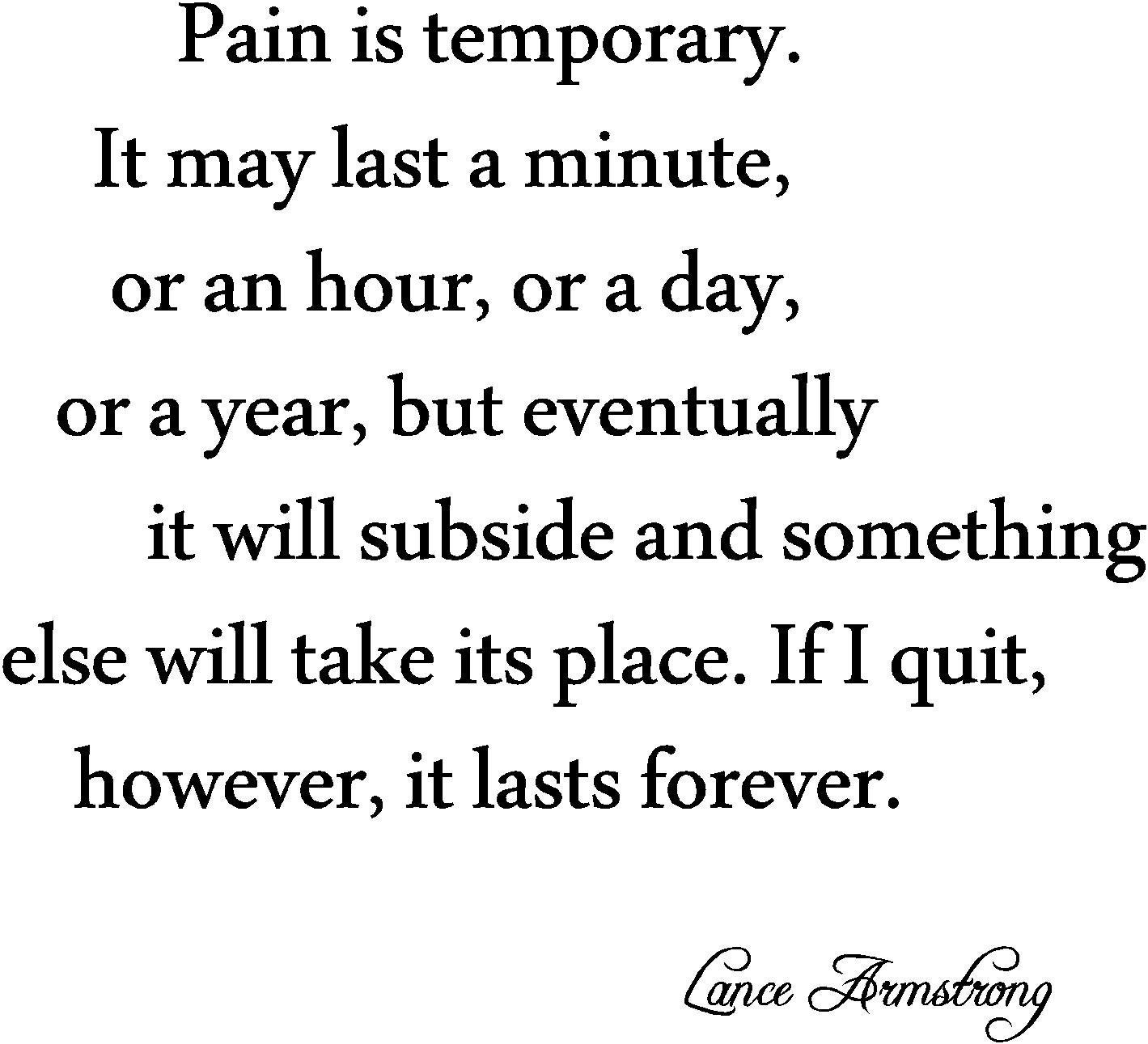 Pain Is Temporary Eric Thomas Quotes