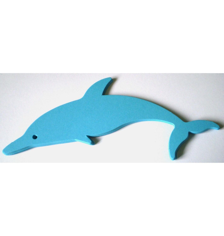 10 Large Blue Die Cut Dophins - MysticFireFrills