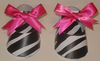 1 Zebra and Hot Pink Baby Carriage Table Centerpiece / Gift Box