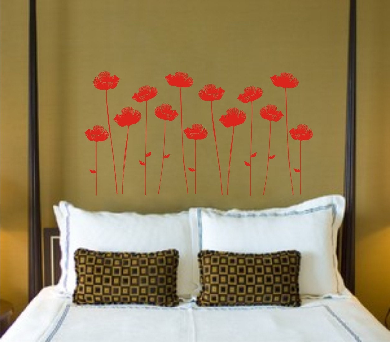 Poppies Vinyl Decor