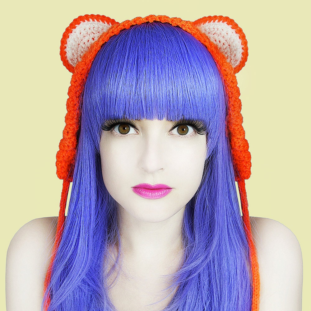 Juicy Orange Bear Ear Warmers