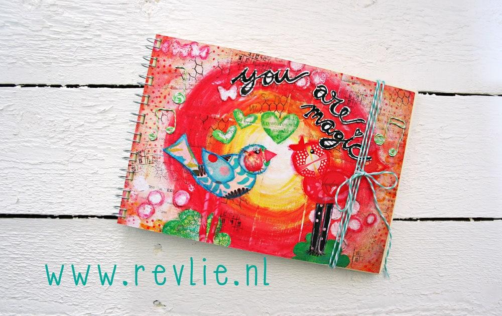 Uniek notitieboekje MAGIC met geheime berichtjes van mij & een gratis set REVitup ansichtkaarten