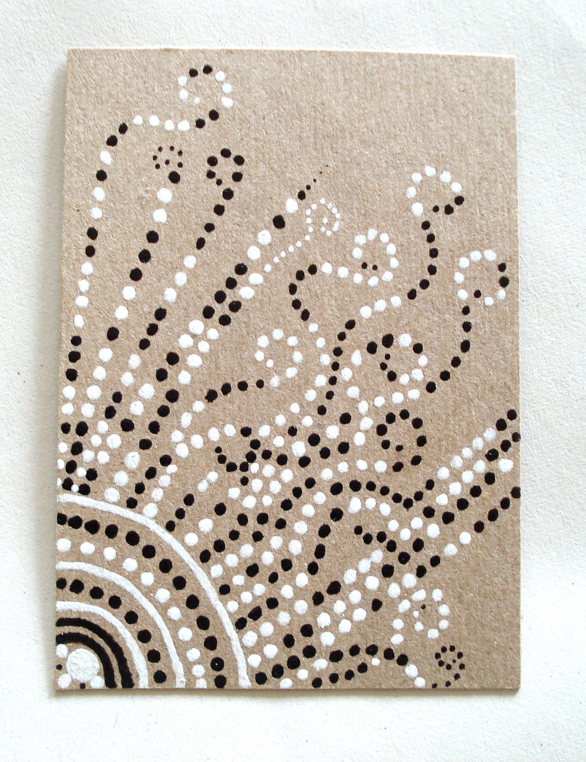 Sun Illustration on Kraft Card ACEO