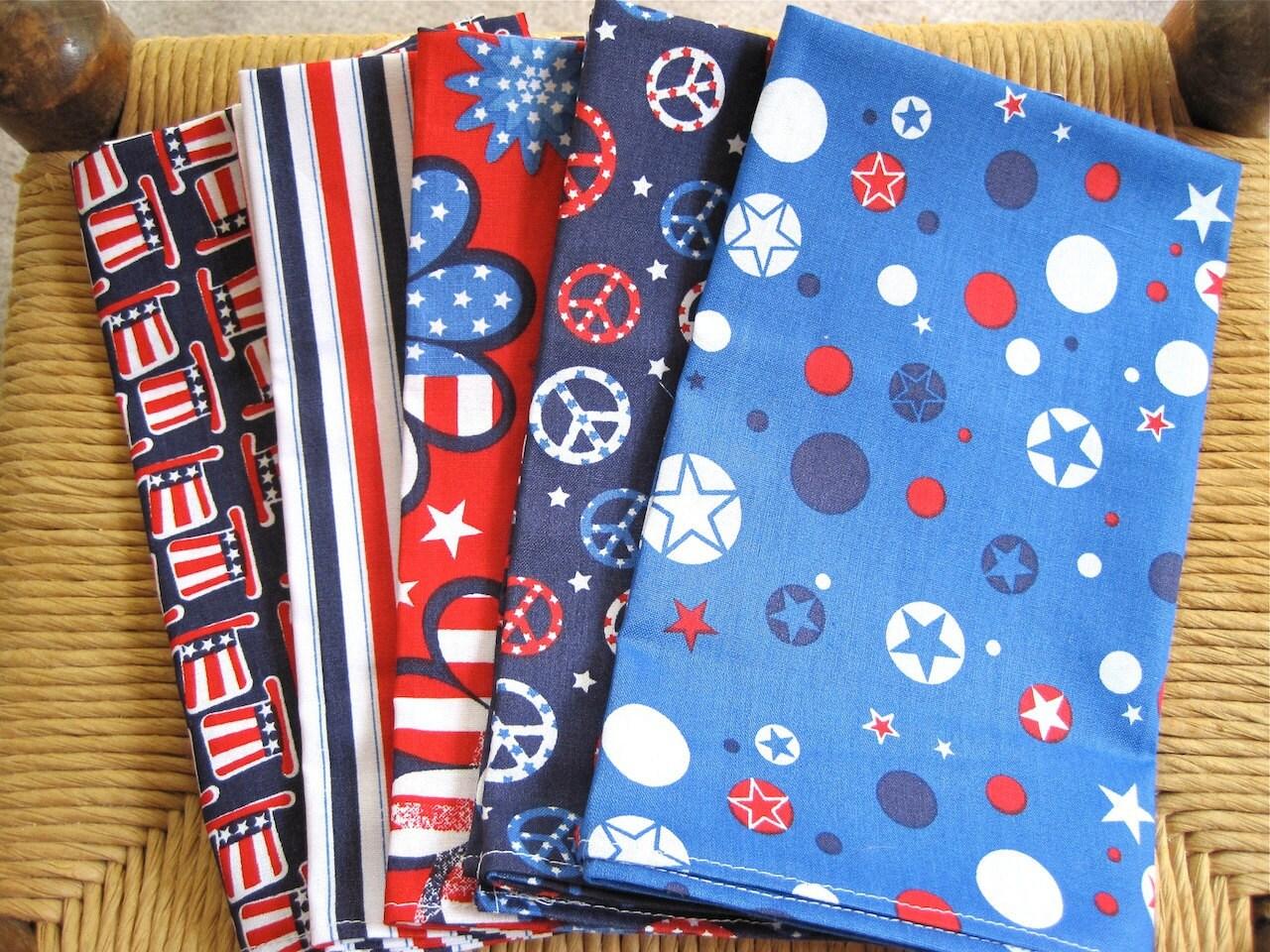 Patriotic Cloth Napkins - fireflyblankets