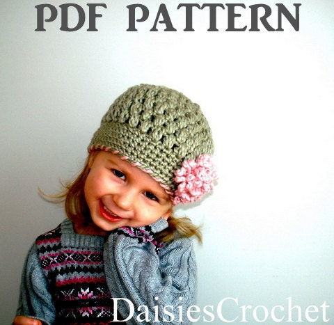 Crochet Pattern Hat Girl :  CROCHET GIRL HAT PATTERN