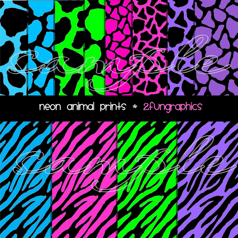 Neon cheetah print wallpaper