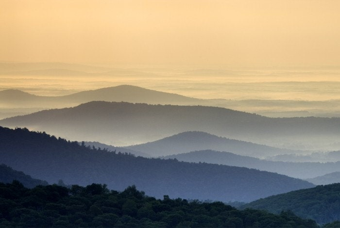 Blue Ridge Mountains in Shenandoah National Park, Virginia - 11x14 inch Photographic Print by Brendan Reals - BrendanReals