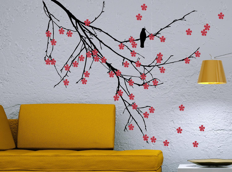 Рисунок на стене красками своими руками по