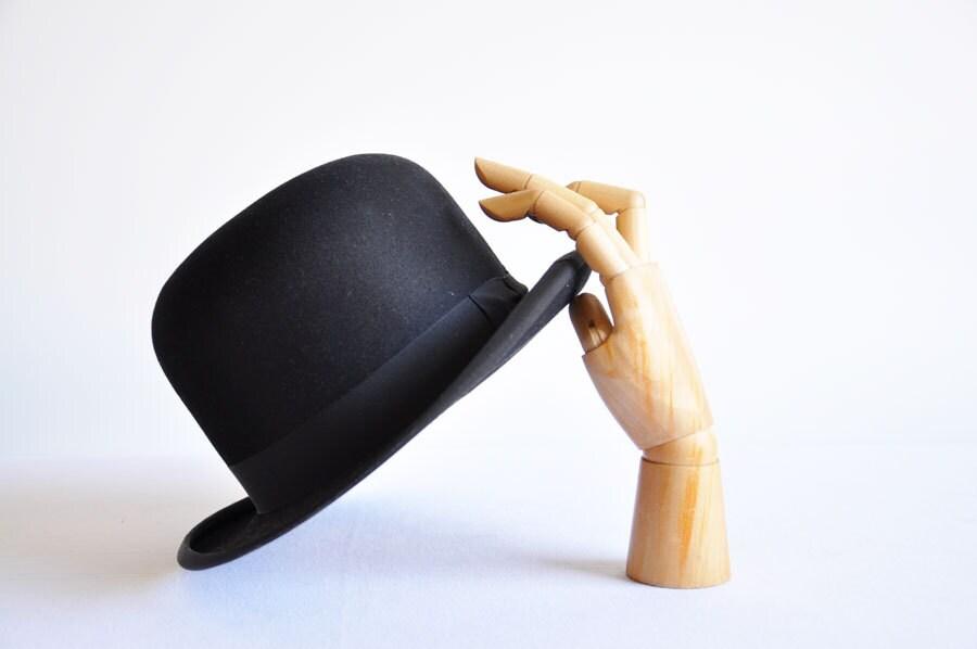 1930 - 40's Mens Borsalino Derby Hat Bowler - thelittlebiker
