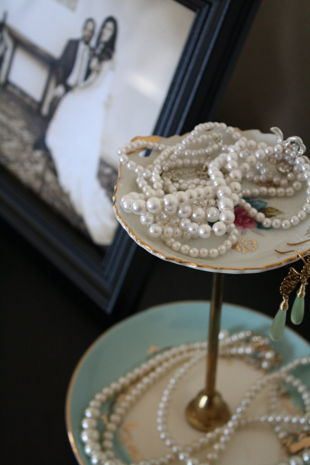Vintage,  tiered jewelry stand