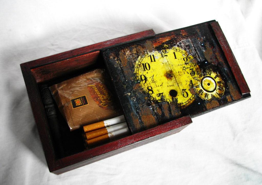 Steampunk табака и хранения сигар декоративные окна