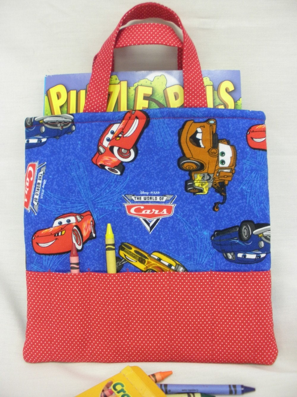 Disney's Cars Crayon Tote (blue)