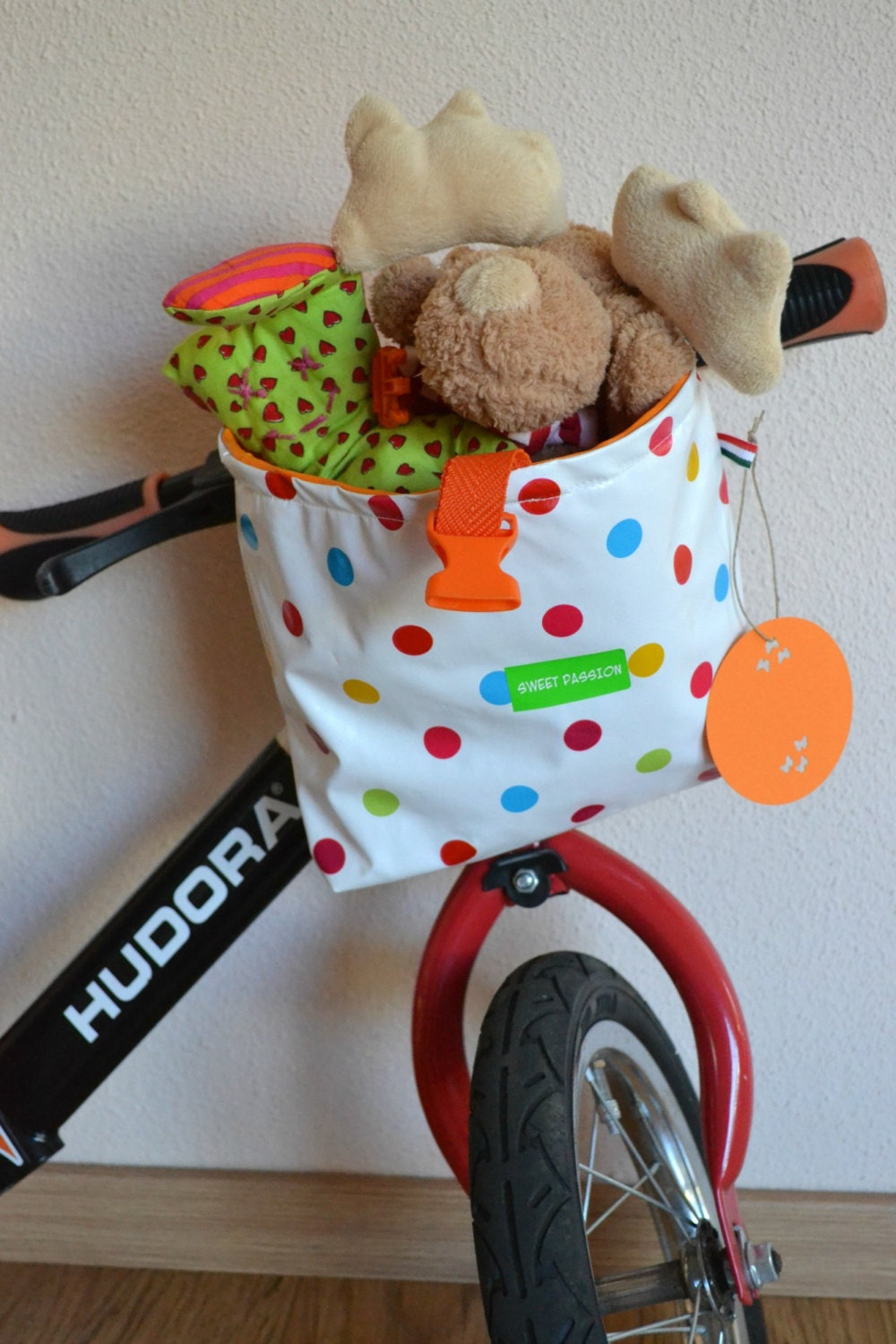 Oilcloth Children Polka Dot/Cartoon Bicycle Handlebar Bag - SWEETPASSIONPRODUCTS