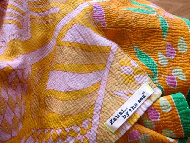 Authentic Indian Vintage kantha quilt 100% cotton