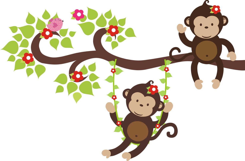荡秋千的小猴子