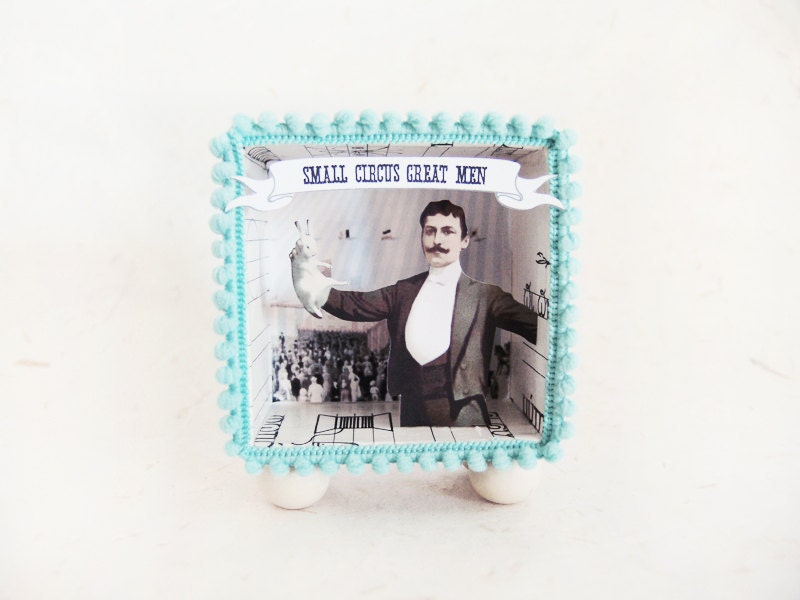 Diorama shadow box -Small Circus Great Men Melville- - ILaBoom