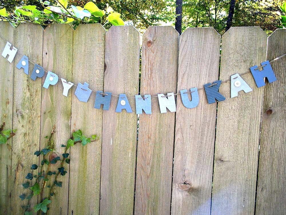 Hannukah decorations, Hanukkah decorations, Channukah decorations, holiday garland, Happy Hannukah
