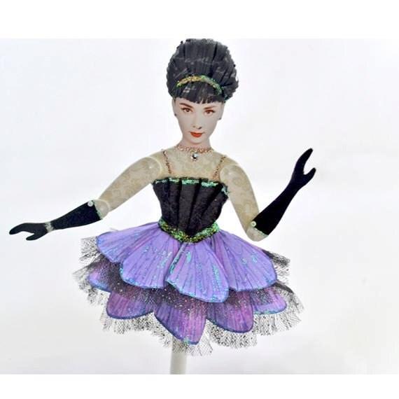 Paper Art Doll Audrey Hepburn