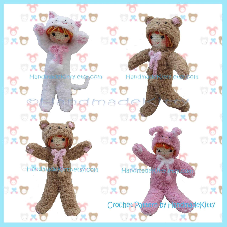 Amigurumi Many : HandmadeKitty: Dress up Fluffy Kitty Rabbit Bear Doll ...