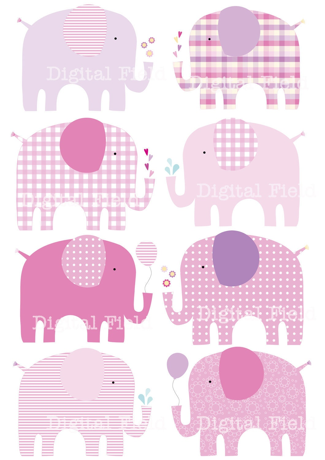 baby shower blue elephant
